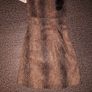 snake like tube dress small or petite