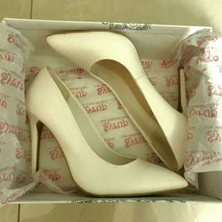 Sale White Pointed Toe Heel