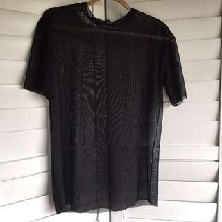 Zara sheer t-shirt