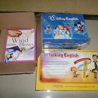 Grolier Bundle Of Books. Talking English, Disney English And I Wonder Why
