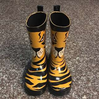 Kid's Rain Boots with Tiger Print from H&M sz 11.5C