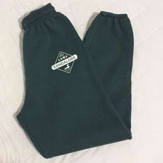 Forest green sweat pants