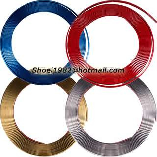 Metallic Car Rim Protector (Gold/Silver/Red/Blue)