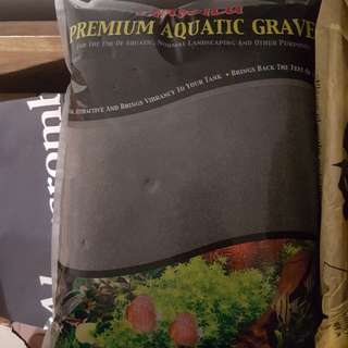 fish tank sand - black 10kg -- left 8 packets as of 18/11/17