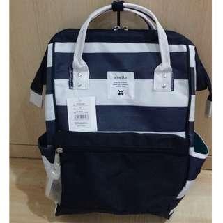 [InStock] Japan Anello Backpack Multi-Border (Stripe) ~ Original 100% Authentic ☆Navy/White