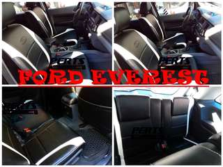 Ford Everest High quality Factory Fit Customized Leather CAR SEAT COVER