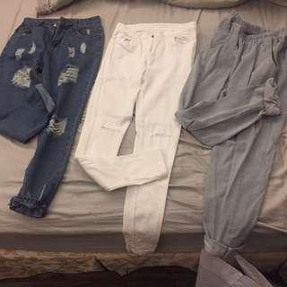 全新長褲三件組