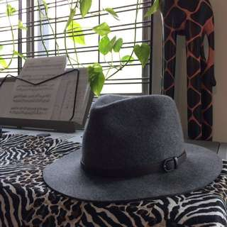Grey ranger wool hat