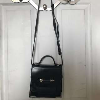 MACKAGE RUBIE LEATHER CROSS BODY BAG In BLACK/SHINY