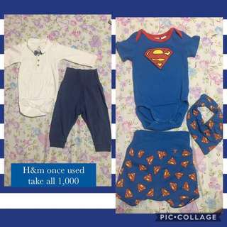 Superman both H&m once used like new 4-6 months