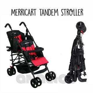 Merricart double stroller Red