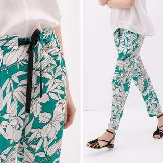 ZARA Green Floral Lounge Pants