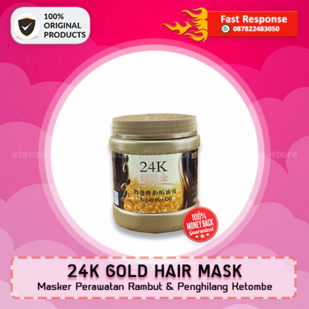 24K GOLD HAIR MASK - Masker Perawatan & Pemanjang Rambut - Original