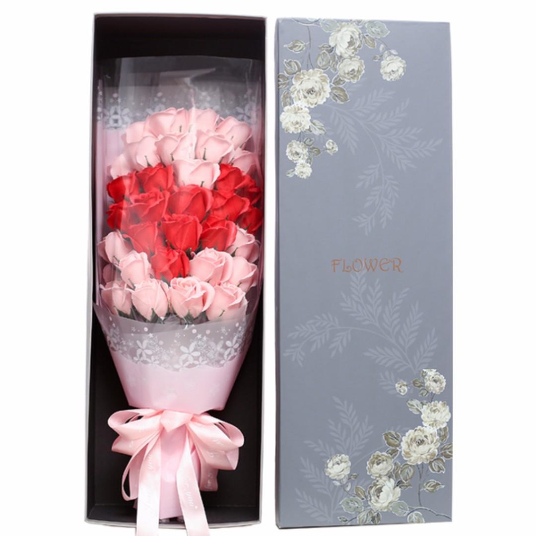 玫瑰香皂花束33支三生三世