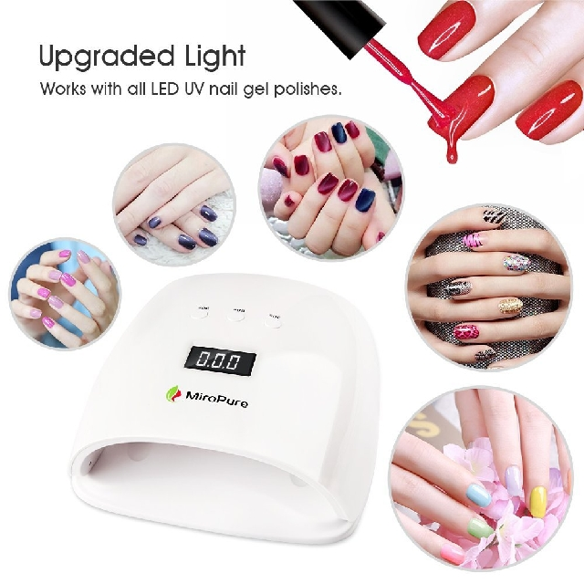 6.MiroPure 48W Nail Dryer LED UV Lamp Super Quick Curing with LCD ...