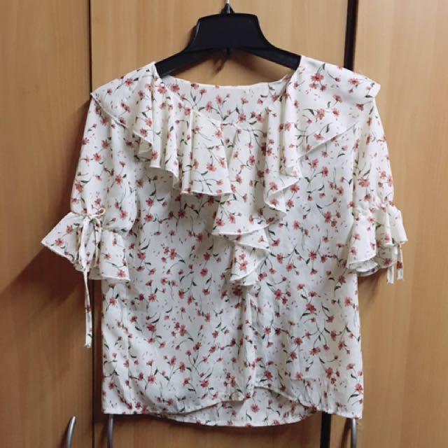 韓國購入花上衣