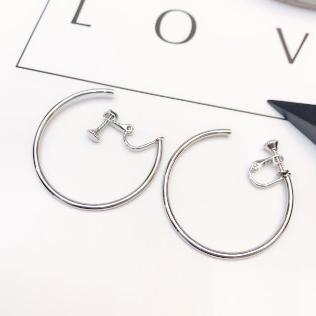 時尚簡約必備圈圈夾式耳環