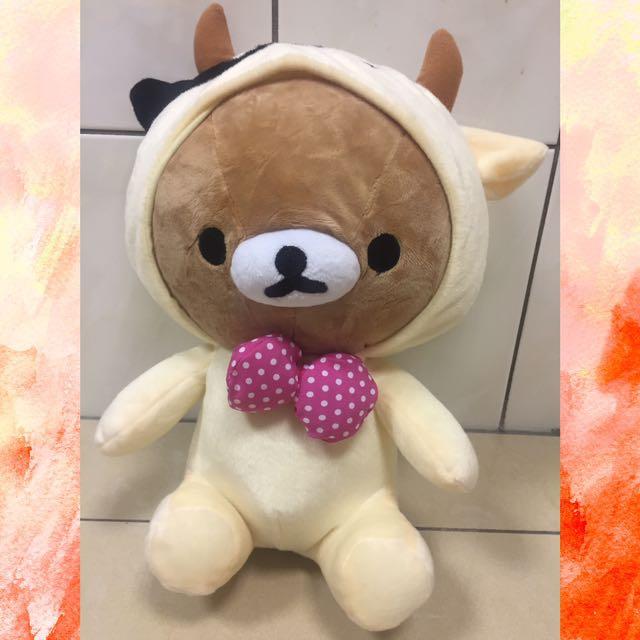 出清-正版拉拉熊玩偶 可脫帽金牛拉拉
