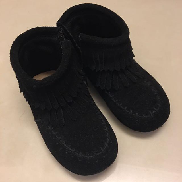 女童 流蘇 短靴。底長16cm