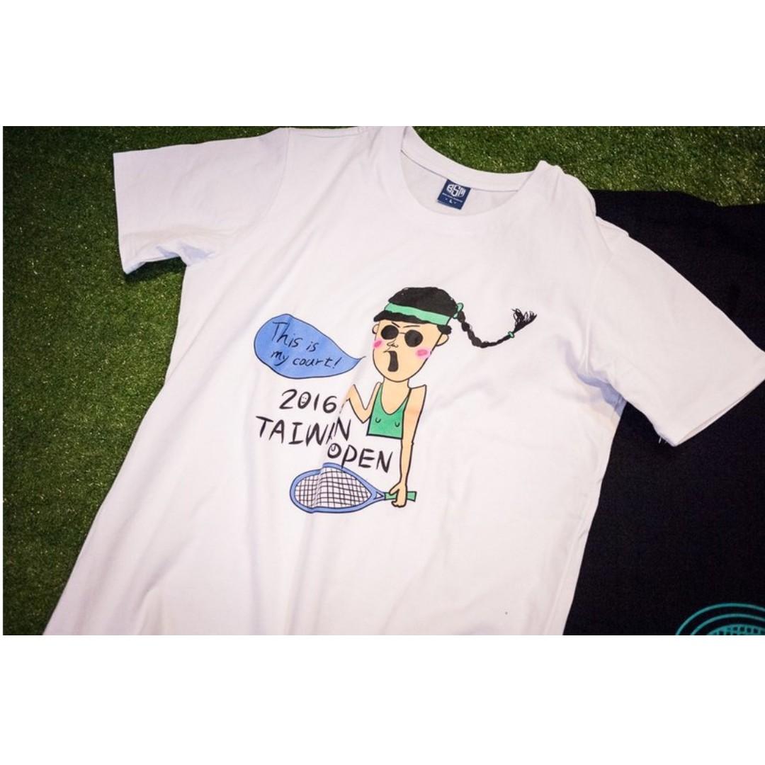 !降價!全新) 喜花如 X Taiwan Open 聯名紀念T恤─白