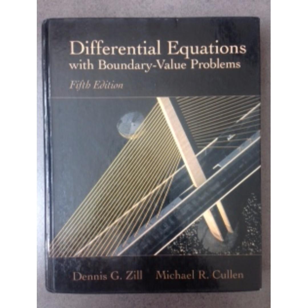 原文 Different Equations with Boundary-Value Problems #教科書出清
