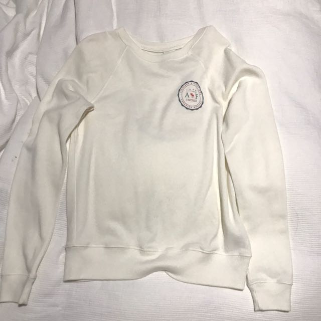 Abercrombie and Fitch cream Jumper
