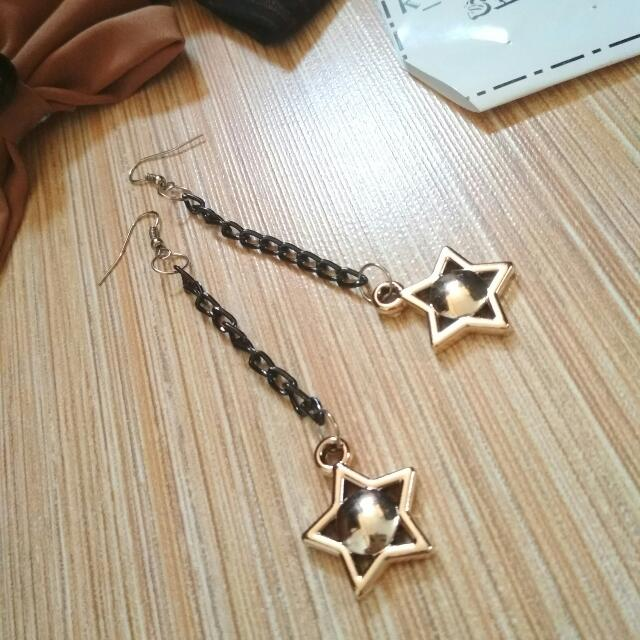 Anting Fashion NW Star Seri Blackgold