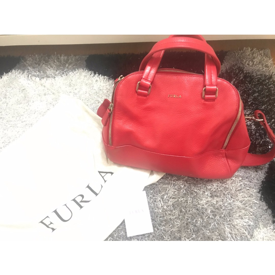 [AUTHENTIC] Furla Red Leather Handbag