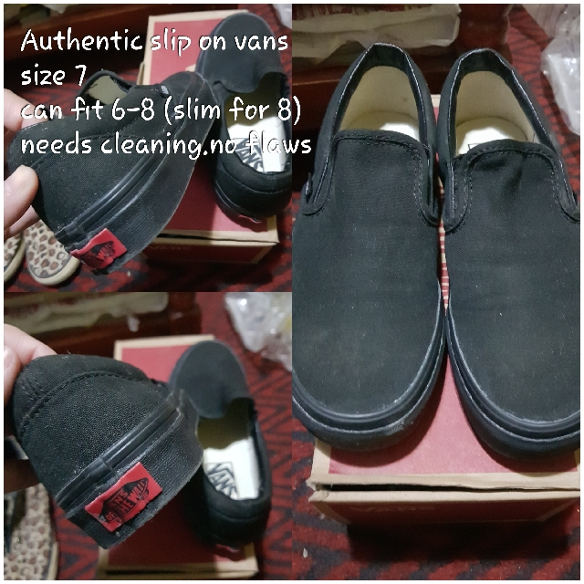 Authentic Vans slip on