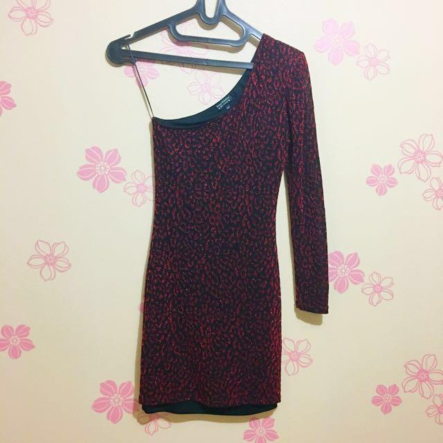 Bershka One Shoulder Night Dress
