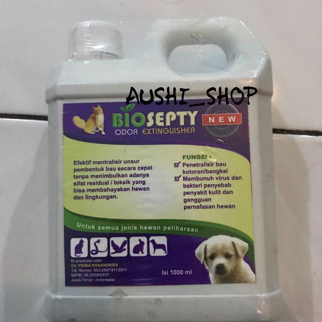 biosepty desinfektan kandang anti jamur virus bakteri kutu cacing anjing kucing