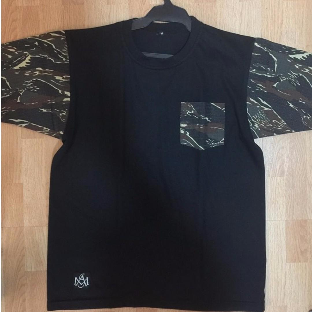 Black Camouflage Sleeves Shirt