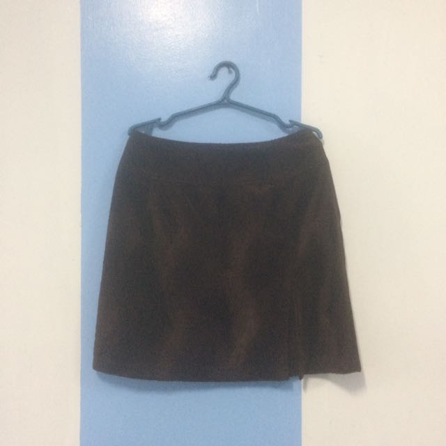 Brown Skirt w/ Slit