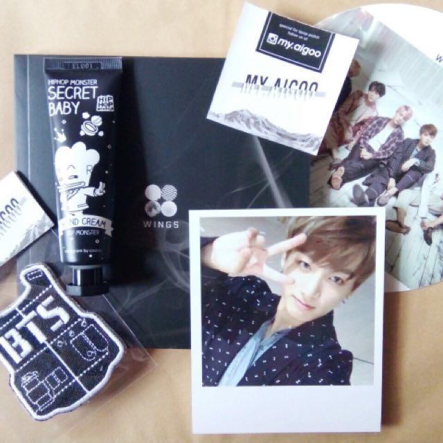 BTS Wings Album - I Version & BTS Hand Cream Secret Baby