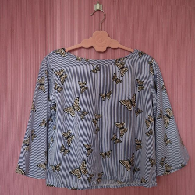 Butterfly Stripes Top