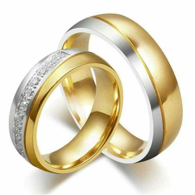 CoupLe ring Gold plated or Silver