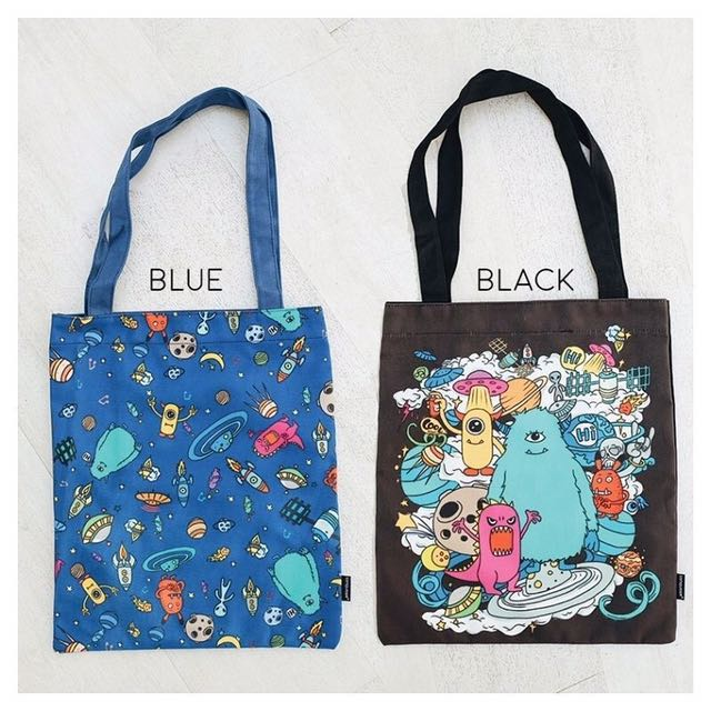 Cute Star Outer Space Canvas Totebag