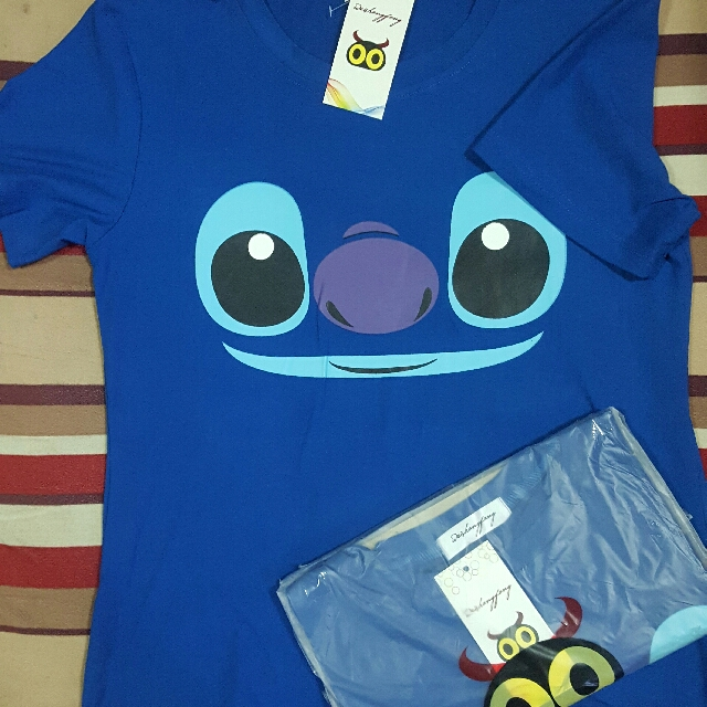 Cute Stitch T-shirt Blue