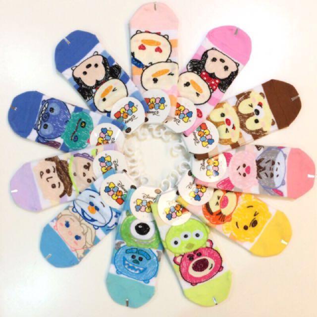 Disney 迪士尼 TsumTsum 米奇米妮 小熊維尼 襪子 短襪