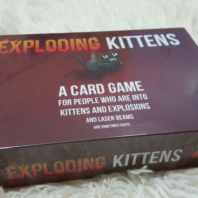 exploding kittens black only (not in the pic)