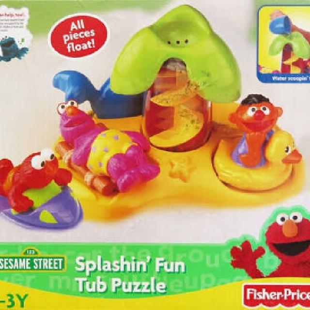 Fisher Price Sesame Street Splashin\' Fun Tub Puzzle Bath Toys ...