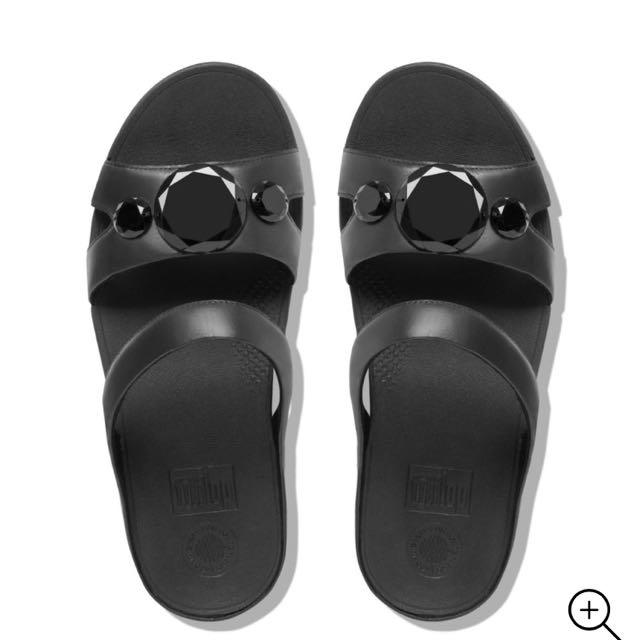 c47c612c6 FITFLOP LUNA POP™ Slide Sandals BLACK
