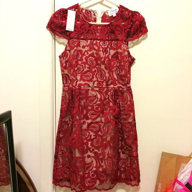 Floral Intricate Lace Dress