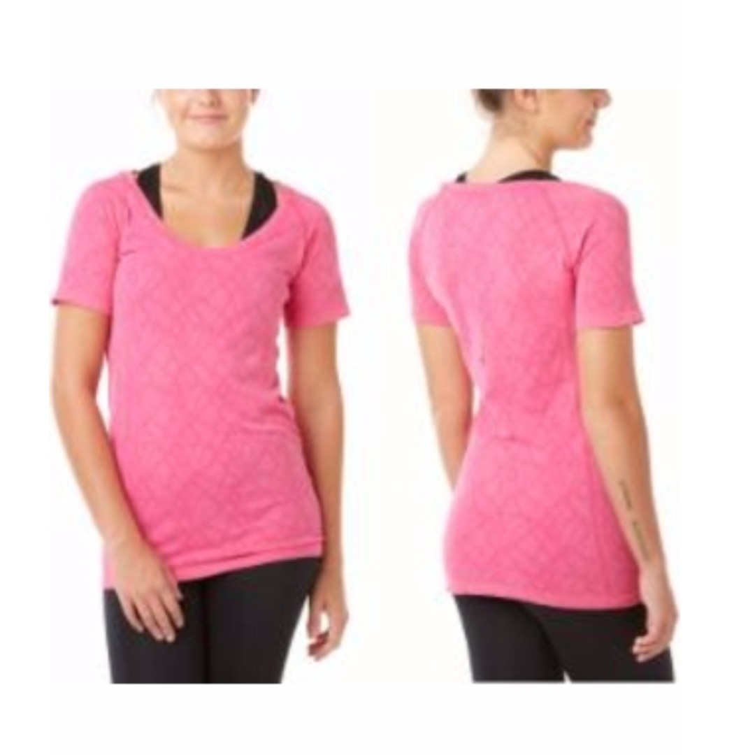 Form And Focus Pink Seamless T-Shirt (Size S/M)