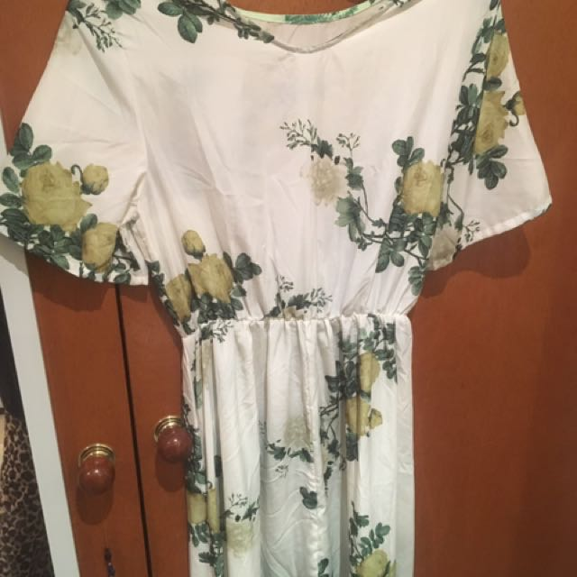 Full Length Floral Dress