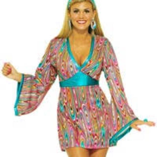 Go Go Girl Hippie 70s Costume