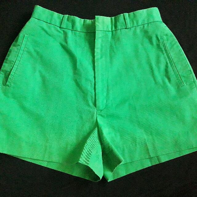 Green High Waist Shorts