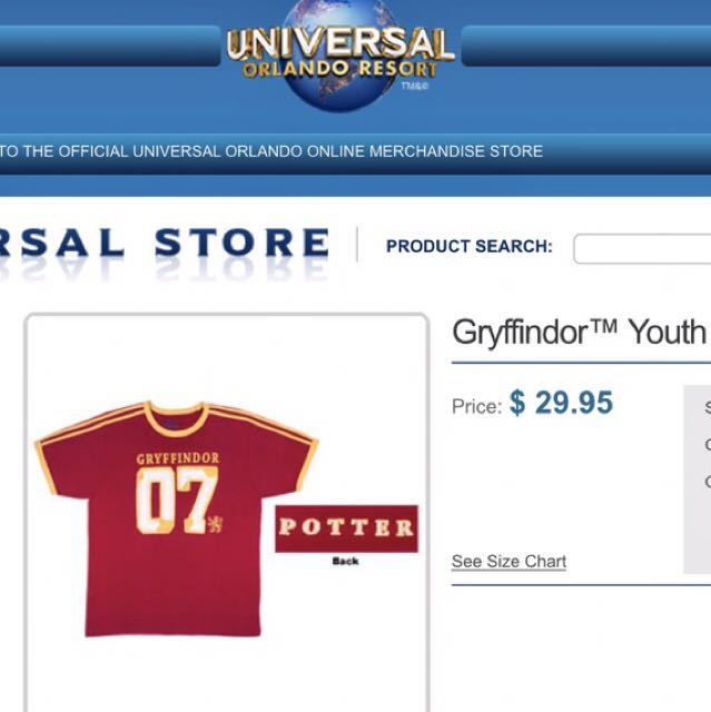 9d8bfdc5c Gryffindor Youth Jersey Shirt - Potter, Women's Fashion, Clothes on  Carousell