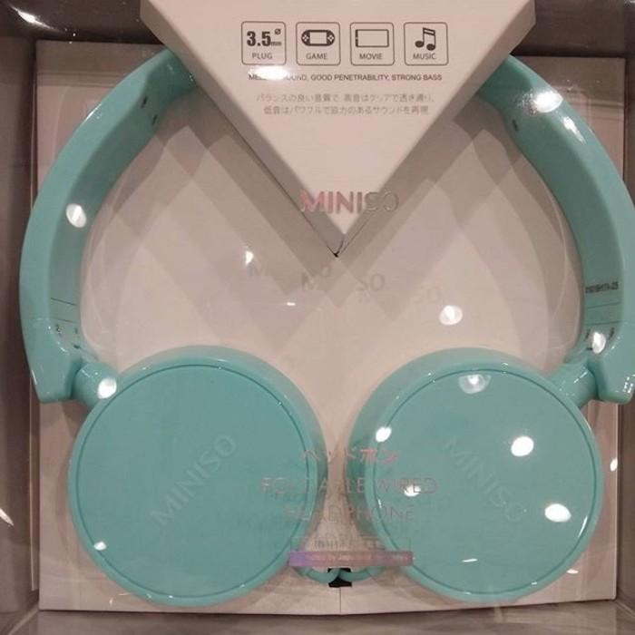 Headphone Headset - Miniso Colorful Earphone Japan