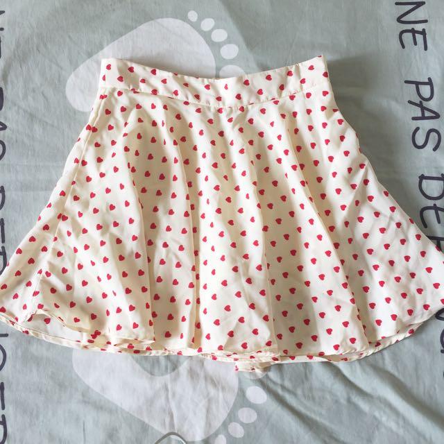 Heart Flare Skirt